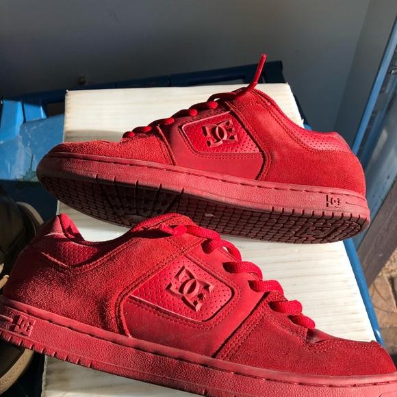 DC Shoes | Red Dc Shoes Sz 5 | Poshmark